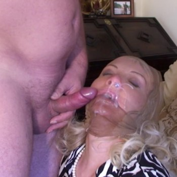Pantyhose mask blowjob