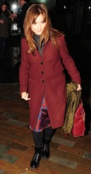 Jenna Coleman - at BBC studios in London 12/23/13