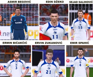 PES 2014 BiH National Team Facepack v1.0 by Tarik