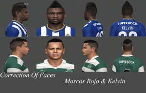 PES 2014 Marcos Rojo and Kelvin Face Fix by miguelrioave