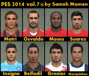 Download PES 2014 Facepack vol. 7 by Sameh Momen