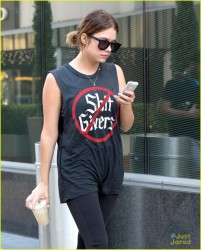 Ashley Benson - leaving the gym in West Hollywood 1/2/14