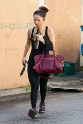 Brenda Song - Going to the gym in Studio City 1/3/14