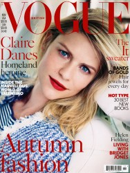 Claire Danes x6 Vogue (UK) November, 2013