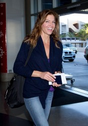 Tricia Helfer - at LAX Airport 12/1/13