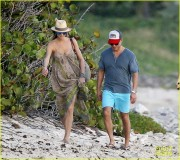 Stacy Keibler - Walking on the Beach in St.Barts 1/05/14