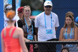 Martina Hingis - at Melbourne Park 1/10/14