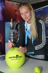Kristina Mladenovic - 2014 Australian Open in Melbourne 1/13/14