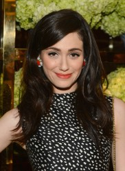 Emmy Rossum at the Tory Burch Rodeo Drive Flagship Opening in Beverly Hills on January 14, 2014
