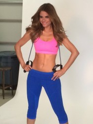Maria Menounos - Behind The Scenes of Her FitnessRx For Women Magazine Photoshoot - January 15, 2014