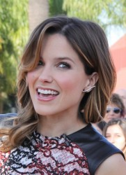 Sophia Bush - on the set of Extra in Universal City 1/20/14
