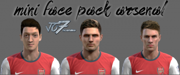 Download Mini Face Pack Arsenal by jo7facemaker