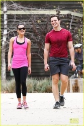 Lea Michele - Hiking in LA 1/24/14