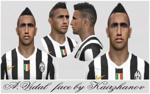 PES 2014 Arturo Vidal Face by Kairzhanov