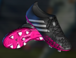 PES 2013 adidas Predator LZ Football Boots Black/White/Berry