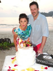 Tiffani Thiessen - celebrating her 40th birthday in Mexico 1/25/14