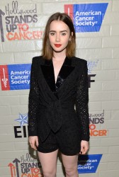 Lily Collins - Hollywood Stands Up To Cancer Event 1/28/14