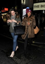 Kelly Brook - at the theatre in London 1/30/14