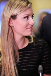 Lindsey Vonn - at the New York Stock Exchange in NYC 1/31/14