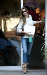 Gisele Bundchen - Leaving an office building in LA 2/3/14