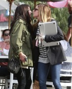 Ashley Tisdale & Shenae Grimes - Leaving Toast Bakery in LA 2/4/14