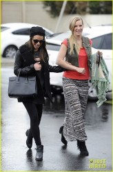 Lea Michele & Heather Morris - Out in LA 2/6/14