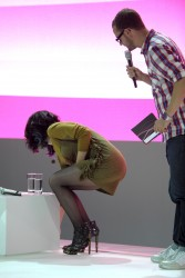 Katy Perry at  the Deutsche Telekom Booth at the IFA Trade Fair in Berlin on September 5, 2010