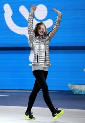 Gracie Gold - Team Figure Skating Overall medal ceremony in Sochi 2/10/14