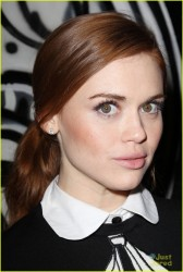 Holland Roden -  Alice + Olivia Fashion Show in NYC 2/10/14