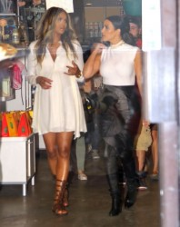 Kim Kardashian & Ciara - Shopping in West Hollywood 2/12/14