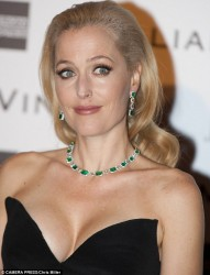 Gillian Anderson - pre-BAFTA dinner in London 2/14/14