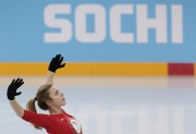 ASHLEY WAGNER Practices in Sochi Before Team Competition 2/6/14 (4 MQ)