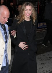 Amber Heard - Arriving to 'The Late Show with David Letterman' in NYC 2/17/14
