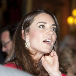 Catherine, Duchess of Cambridge - hosting dramatic arts reception at Buckingham Palace-2/18/14
