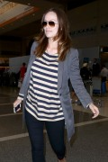 Olivia Wilde arriving to LAX on February 17, 2014