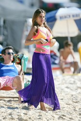 Sofia Vergara at Bondi Beach in Australia on February 21, 2014