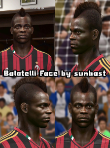 Download Mario Balotelli Face for PES2014 by sunbast