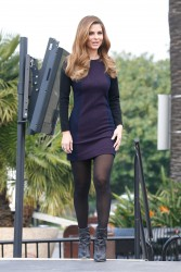 Maria Menounos - on the set of Extra in Universal City 2/18/14