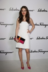 Alison Brie - Salvatore Ferragamo fashion show in Milan 2/23/14