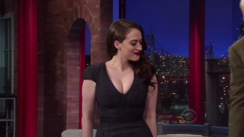 KAT DENNINGS - AMAZING CLEAVAGE - Letterman.02.25.14