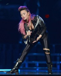 Demi Lovato's Neon Lights Concert in Sunrise, Florida on February 25, 2014
