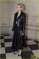 Emma Roberts - Christian Dior F/W 2014-2015 Fashion Show in Paris 2/28/14