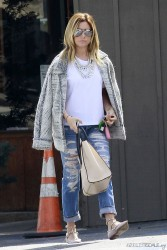 Ashley Tisdale - Leaving Mo's Restaurant in Toluca Lake 3/4/14