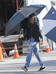 Kristen Stewart - On the set of 'Still Alice' in NYC 3/6/14
