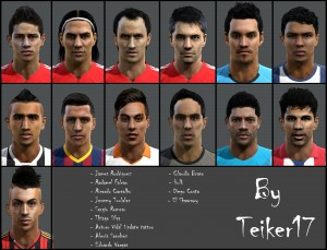 Download PES 2013 Facepack Internacional vol. 7 By Teiker17