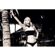 Paris Hilton - Black and White Bikini Pics and short vid