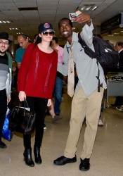 Emmy Rossum - At LAX Airport 3/16/14