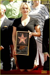 Kate Winslet - Receiving a star on The Hollywood Walk of Fame 3/17/14