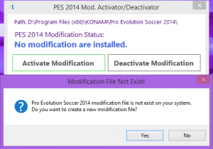 PES 2014 MOD Deactivator by Tegar Essentials