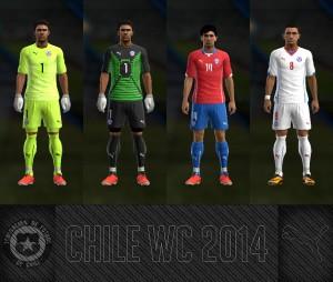 Download PES 2013 CHILE WC 2014 GDB Kits by AkmalRW